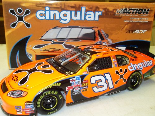 Jeff Burton Cingular Wireless 2005 #31 Action Racing 1:24 Die-Cast Stock Car by NASCAR