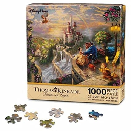 Disney Beauty and the Beast Falling in Love Puzzle by Thomas Kinkade