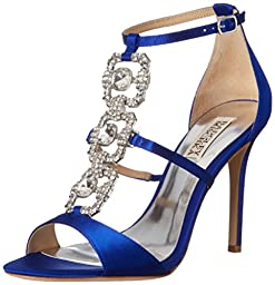 Badgley Mischka Women\'s Allie Dress Sandal, Violet, 7.5 M US