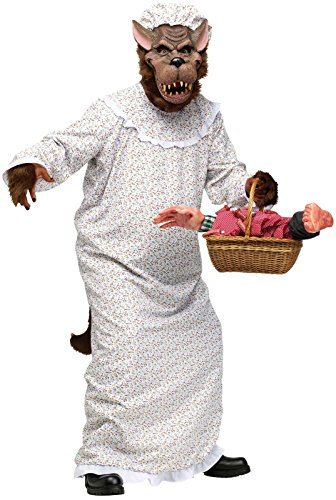 [Adult Big Bad Granny Wolf Costume - Little Red Riding Hood] (Big Bad Wolf Costume Granny)