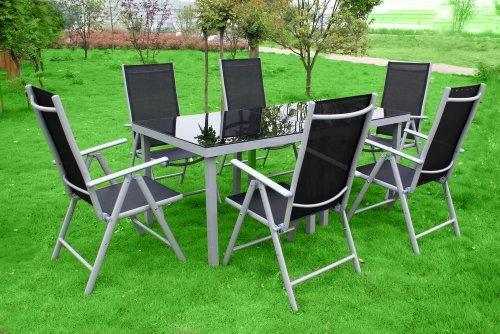 8 teiliges xxl alu gartenm bel set gartengarnitur gartenset gm8 trend billige gartenm bel. Black Bedroom Furniture Sets. Home Design Ideas