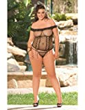 Net Cami Top with Thong Black Queen ~ sexy thong underwear