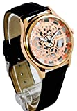 Transparent Copper Dial Analog Wrist Watch for Men With Free Extra Battery & Box (Copper & Black)