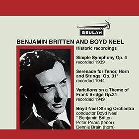 Variations On a Theme of Frank Bridge, Op. 10: V. Bo urr�e Classique