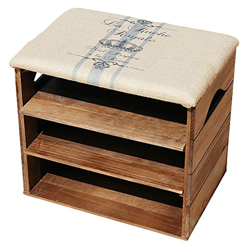 Schuhschrank-aus-Holz-mit-Sitz-aus-Stoff-beschichtet-Aufbewahren-und-Ordnen-Schuhe-Slipper-Sport