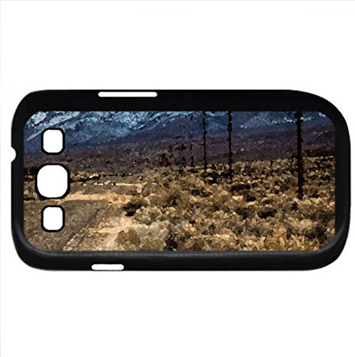 Broken Highway Along A Mountain Range (Mountains Series) Watercolor Style - Case Cover For Samsung Galaxy S3 I9300 (Black)
