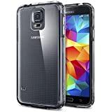 [AIR CUSHION] Spigen Samsung Galaxy S5 Case Bumper **New Release** ULTRA HYBRID [Crystal Clear] Air Cushion Technology Corners + Bumper Case with Clear Back Panel for Galaxy SV Galaxy S V - ECO-Friendly Packaging - Crystal Clear (SGP10741)