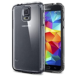 Galaxy S5 Case, Spigen® [ULTRA HYBRID Series] AIR CUSHION [Crystal Clear] Clear Back Panel Protective Bumper Case + Full HD Japanese Screen Protector for Galaxy S5 (2014) - Crystal Clear (SGP10741)