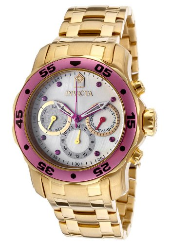 Women's Pro Diver White MOP Dial 18K Gold Plated Stainless Steel