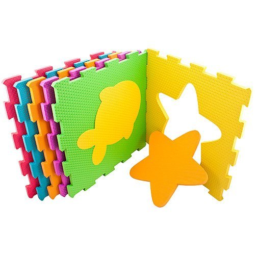 Sassy Soft-Cushion Play Space Interlocking Mat - 1