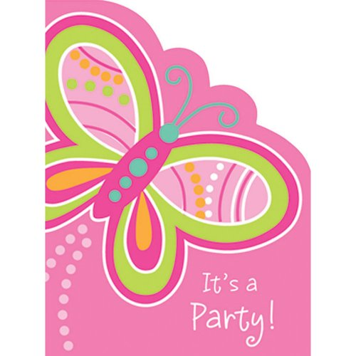 Mod Butterfly Invitations Package of 8
