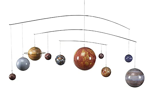 Amazon.com - Solar System Mobile - 10 Planet Classic Replica - Features Complete Solar System - Authentic Models GL061 -