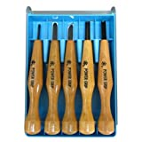 三木章刃物 パワーグリップ彫刻刀 5本組 透明ケース 800152