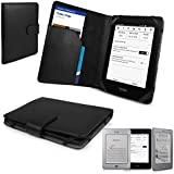 Black SD Folio Case Cover Pouch with Clip-On LED Reading Lamp for Amazon Kindle 4