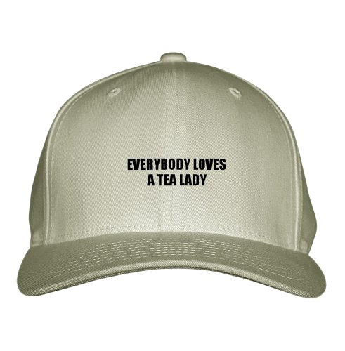 Everybody Loves A Tea Lady Profession Embroidered Adjustable Structured Hat Cap Khaki