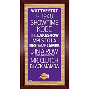 NBA Los Angeles Lakers Framed Subway Sign Wall Art Photo, 16x32-Inch by Steiner Sports