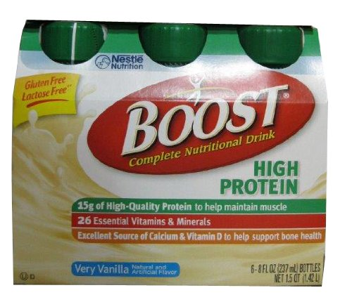 Boost High Protein Nutritional Energy Drink, Vanilla, 8 Ounce Bottle (Pack Of 24) front-889917