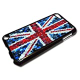 """Flags"" Union Jack 1, Black Hard Back Case for iPod Touch 5th Generation."