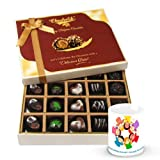 Valentine Chocholik Belgium Chocolates - Silk Smooth Of Dark And Milk Chocolate Box With Friendship Mug