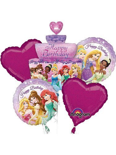 1 X Bouquet: Princess Birthday Cake Bouquet Balloons