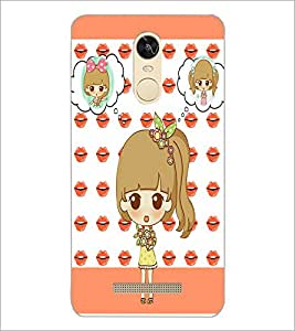 PrintDhaba Cute Doll D-3800 Back Case Cover for XIAOMI REDMI NOTE 3 (Multi-Coloured)