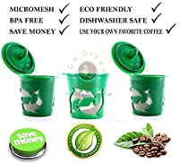Three Count Premium Cafefill Keurig Reusable Refillable Coffee Filter Pod * Stainless Steel Micro Mesh/ Screen