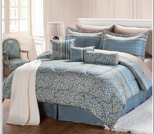 find cheap price 12 pc modern aqua comforter set bed in a bag size bedding by plush c