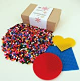 Fuse Bead Kit - Like Hama - 3 Boards - 4000 Beads (Approx) - 2 Ironing papers - Midi 5mm size