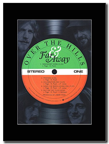Led Zeppelin Over-The Hills & lontano Magazine Promo su un supporto, colore: nero