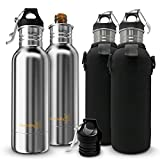 JoyCrafty Stainless Steel Beer Bottle Koozie Insulator with Opener
