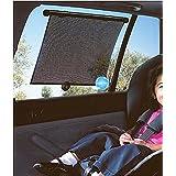 Digitru - Car Window Sun Shade Roller Set Of 4Pcs (Black)