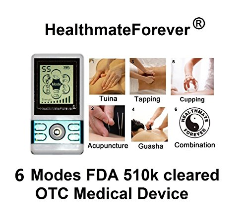 Healthmateforever 6 Modes, Over-The-Counter Fda Cleared, Electrotherapy Pain Relief Device With 8 Pcs Massager Pads. Healthmate Forever Bm6G-Blue Lifetime Warranty