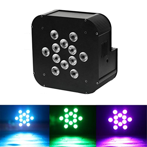 Yiscor Stage Lighting Led Par Light 12Leds 12X10W Rgbw 4In1 Dmx512 Mixing Colors For Home Garden Party Dj Disco Club Effect (Pack Of 1)
