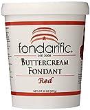 Fondarific Buttercream Red Fondant, 2-Pounds