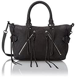 Rebecca Minkoff Moto Satchel Top Handle Bag, Black, One Size