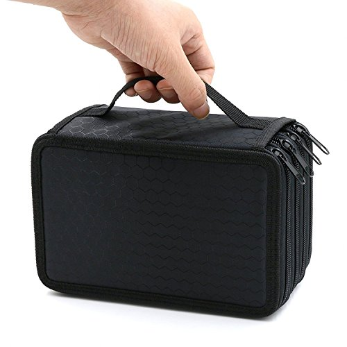 4 Layers High Capacity Pencil Brush Case Box Pen Pouch Bag Makeup Storage Bag Black (Ice Cream A Global History compare prices)