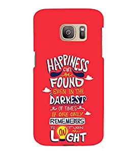 Happiness Darkest Light 3D Hard Polycarbonate Designer Back Case Cover for Samsung Galaxy S7 Edge :: Samsung Galaxy S7 Edge Duos G935F
