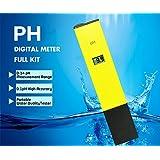 Premium Digital PH Meter Full Kit, [0-14 pH Measurement Range] [0.1pH High Accuracy] Portable Handheld Water Quality, Swimming Pool, Aquarium Tester PH Pen