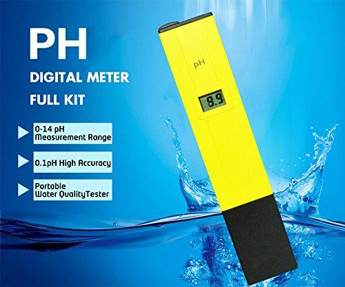 Premium Digital PH Meter Full Kit,Portable Handheld Water Quality, Swimming Pool,Aquarium Tester PH Test Pen [0-14 pH Measurement Range] [0.1pH High Accuracy]+[2 PH Buffer Powder]+[Adjust Pen] (Swimming Pool Electronics compare prices)