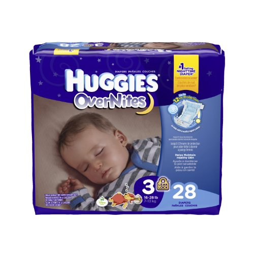 Huggies Overnites Diapers, Size 3, 28 Count