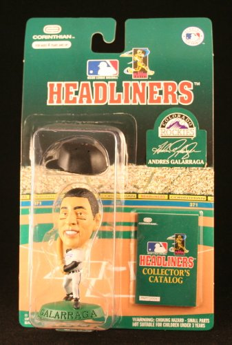 ANDRES GALARRAGA / COLORADO ROCKIES * 3 INCH * 1996 MLB Headliners Baseball Collector Figure