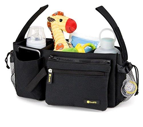 durable stroller organizer baby diaper tote storage bag smartphone pocket travel ebay. Black Bedroom Furniture Sets. Home Design Ideas