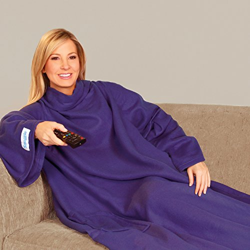the-original-snuggie-super-soft-fleece-blanket-with-sleeves-and-pockets-purple