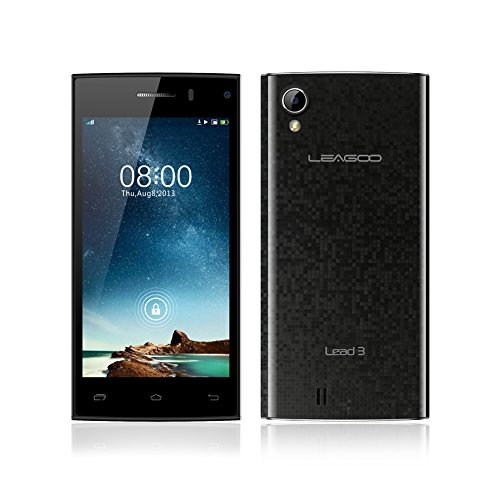 LEAGOO Lead 3 MTK6582 Cell Phones 1.3GHz Quad Core 3G Android 4.4 Smartphone WCDMA Mobile 4.5