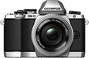 Olympus OM-D EM10 with Power Zoom Pancake M.Zuiko Digital ED 14-42mm 1:3.5-5.6 EZ Lens - Silver/Silver (16.1MP, Live MOS ) 3.0 inch Tiltable LCD