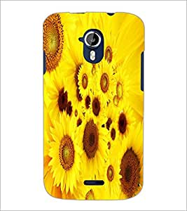 PRINTSWAG YELLOW FLOWERS Designer Back Cover Case for MICROMAX A116 CANVAS HD