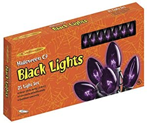 25 Lights, Black Bulbs W/black Cord
