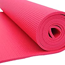 """Soozier Extra Thick Non-Skid Deluxe Yoga Mat w/ Carrying Bag - 74"""" x 24"""" x 1/4"""" - Rose"""