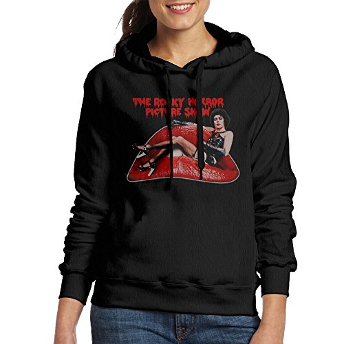 [Women's Magic Lantern Films Rocky Horror Picture Show Hoodie Black] (Rocky Horror Wig)