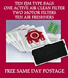 SERVICE KIT FOR MIELE S6220 10 x FJM BAGS 10 x AIR FRESHNERS & ACTIVE AIR CLEAN FILTER